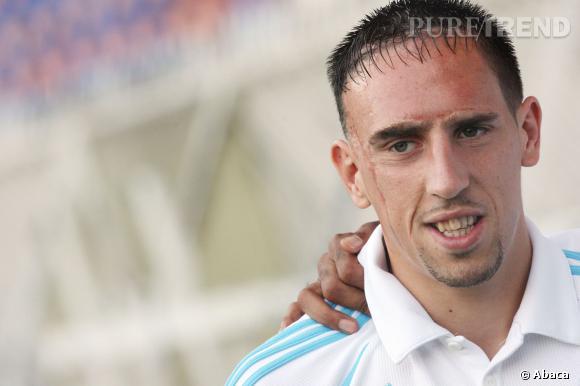 Franck Ribery et son étonnante frange effilée...