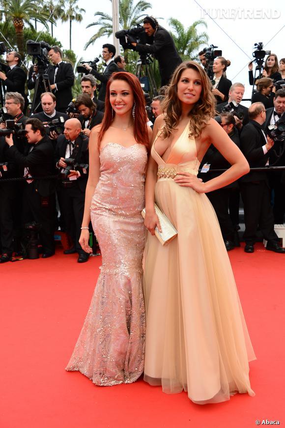 Delphine Wespiser et Laury Thilleman, deux autres anciennes Miss France. On ignore toutefois la note qu'elles ont obtenu à leur test de culture G !
