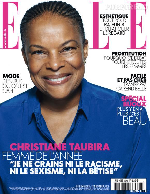 Christiane Taubira a été élue femme de l'année par le magazine ELLE France.