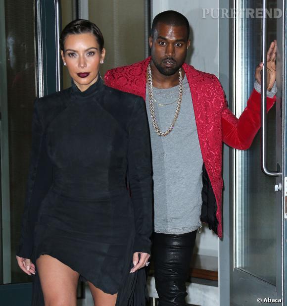 Kim Kardashian et Kanye West se rendent au concert de Kanye West au Madison Square Garden.