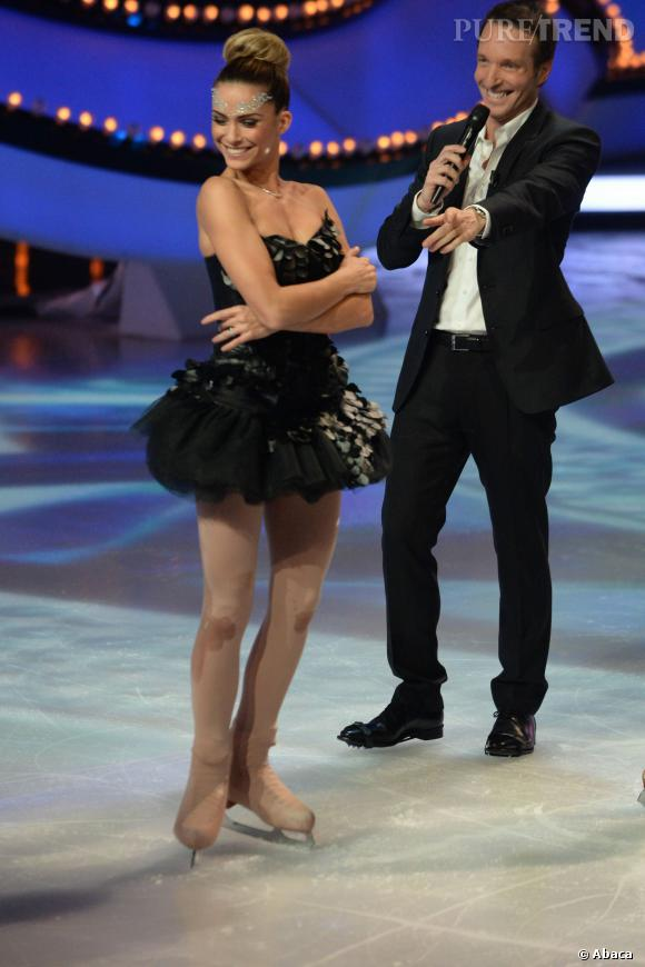 """Clara Morgane, éliminée dès le premier prime d'""""Ice Show""""..."""