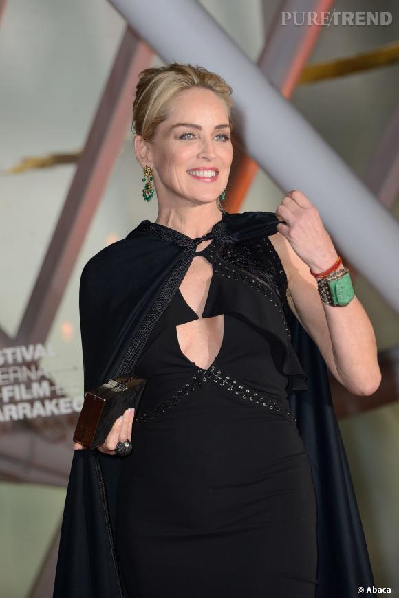 Sharon Stone était à Marrakech vendredi 29 novembre pour accepter son prix honorifique au 13ème Festival du Film de Marrakech.
