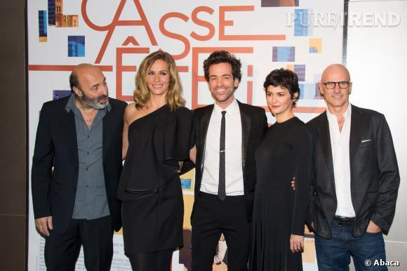 """Cécile de France et une partie de l'équipe du troisième volet de la trilogie de Cédric Klapisch """"Casse-tête chinois""""."""