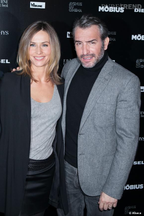"""Cécile De France et Jean Dujardin lors de la première du film """"Mobius"""" au début de l'année."""