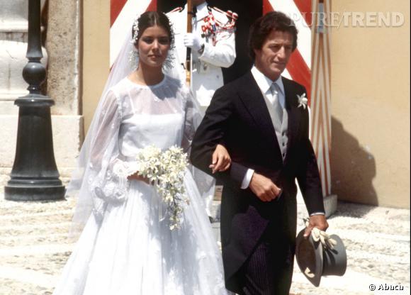 Caroline de Monaco ravissante le jour de son premier mariage.