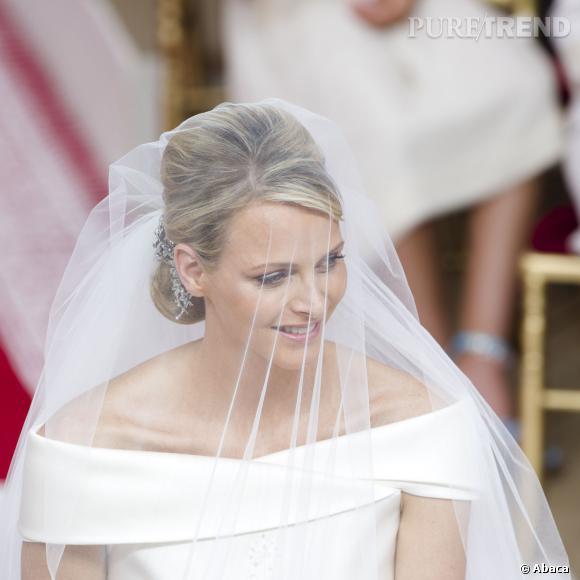Charlène Wittstock le jour de son mariage avec le prince Albert.
