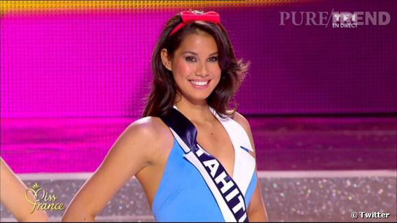Le jury désignait Miss Tahiti gagnante de l'élection Miss France 2014.