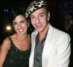 Rachida Dati et le créateur John Galliano aux 60ème anniversaire de la maison Christian Dior.