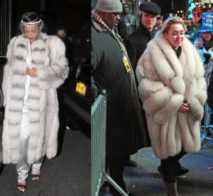 Rihanna vs Miley Cyrus : la fourrure de pimp