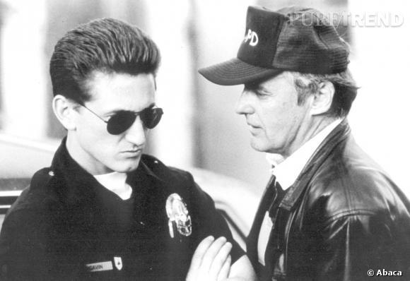 Sean Penn et Dennis Hopper en 1988.