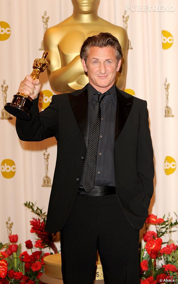 """Sean Penn et son second Oscar du meilleur acteur pour """"Harvey Milk""""."""