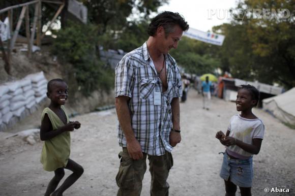 Sean Penn à Haïti.