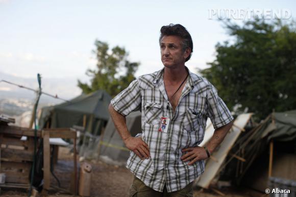 Sean Penn, engagé dans l'humanitaire (ici à Haïti).