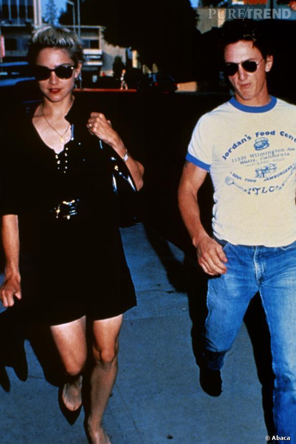 Sean Penn et Madonna en 1987.