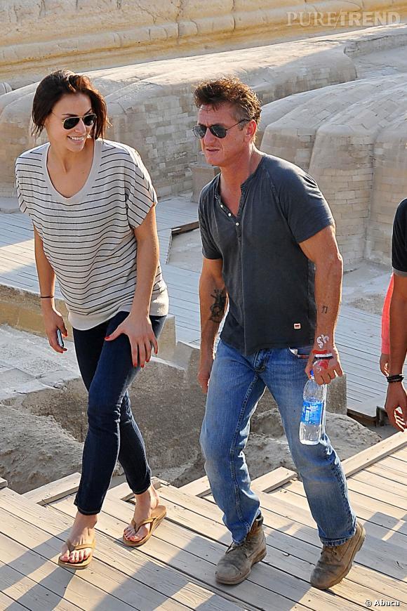 Egypte, 2011. Sean Penn, éternelle allure de baroudeur aux côtés de son ex petite-amie, Shannon Costello.