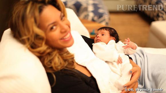 Beyoncé et Blue Ivy à sa naissance.