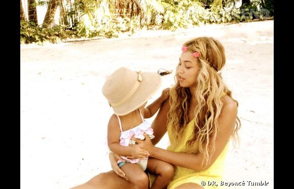 Blue Ivy en vacances avec Beyoncé.