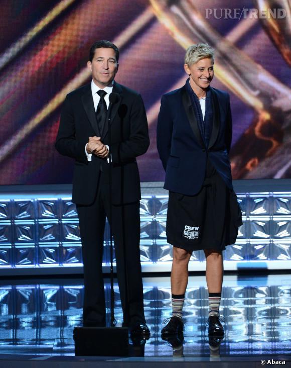 Ellen DeGeneres pendant les Emmy Awards.