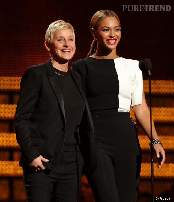 Présenter des prix lors des cérémonies ? Ellen DeGeneres s'y connaît ! Elle a participé aux Grammy Awards avec Beyoncé !