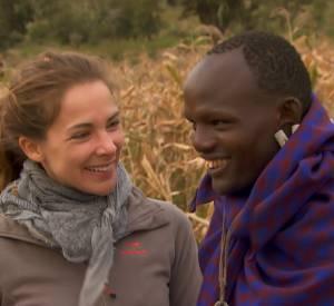 Mélissa Theuriau chez les Massaï pour l'émission Rendez-vous en terre inconnue.