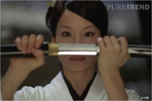 "Lucy Liu et son regard de tueuse dans ""Kill Bill""."