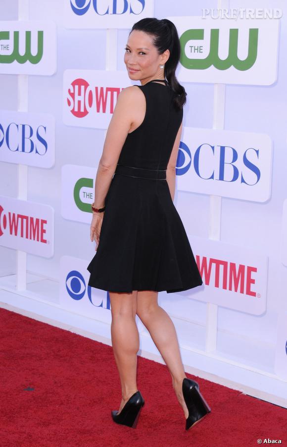 Lucy Liu, sublime lors de la soirée CBS.