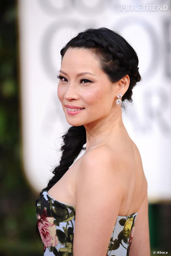 Lucy Liu aux Golden Globes Awards 2013.