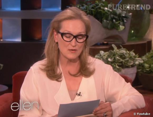 Meryl Streep rend la cuisine sexy chez Ellen deGeneres.