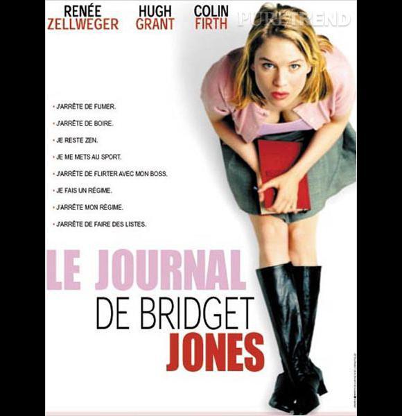 """Renée Zellweger, célibataire un peu manche et pas douée en amour dans """"Le Journal de Bridget Jones""""."""