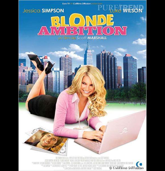 """Dans """"Blonde Ambition"""", remake de """"Working Girl"""" avec Mélanie Griffith, Jessica Simpson joue une provinciale un peu naïve qui tente de s'intégrer dans une firme new-yorkaise."""