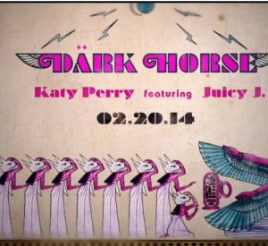 "Katy Perry tease le clip de son morceau ""Dark Horse ft Juicy J""."