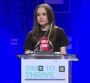Ellen Page : pluie de soutien et d'amour pour son coming-out courageux