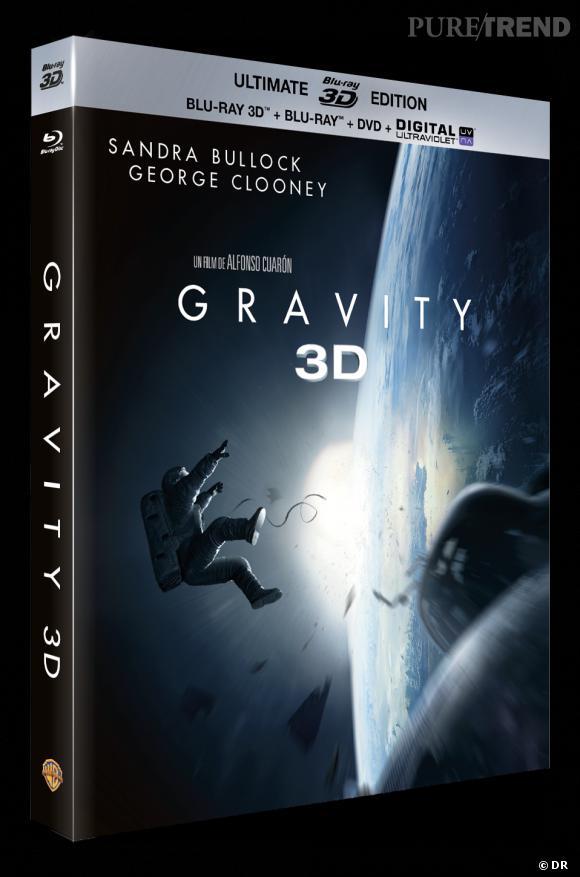 """DVD de février : """"Gravity"""" 3D blu-ray pour le prix de 34.99 €."""