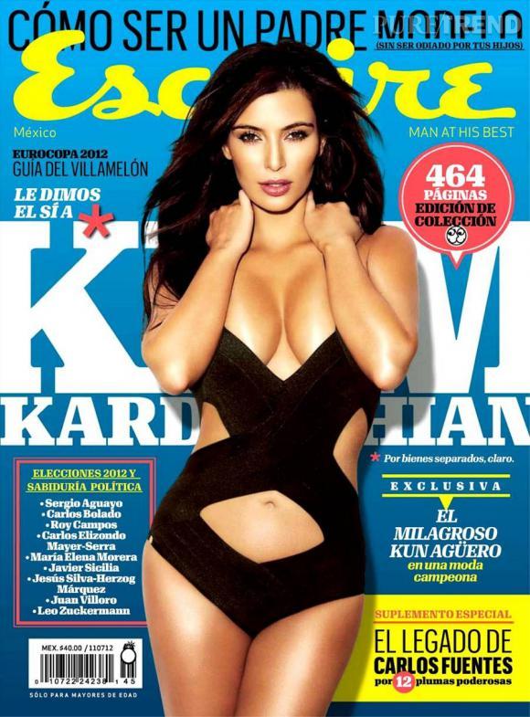 Kim Kardashian en Une d'Esquire... On doute qu'Anna Wintour applaudisse.