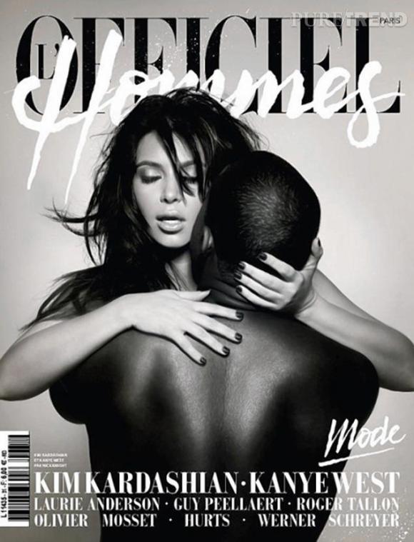 Kim Kardashian s'est tout de même payée la Une de L'Officiel Hommes, mais grâce à Kanye West...
