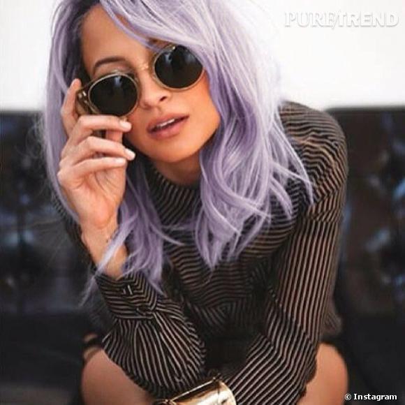 Nicole Richie poste une photo d'elle avec les cheveux lilas sur son Instagram et affole la toile.