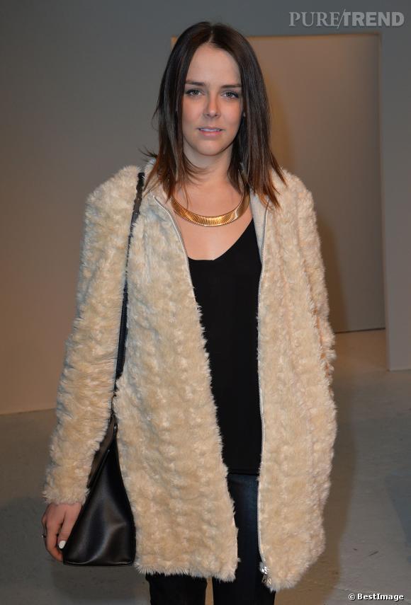 Pauline Ducruet, la star mode du défilé Barbara Bui Automne-Hiver 2014/2015 le 27 février à Paris.