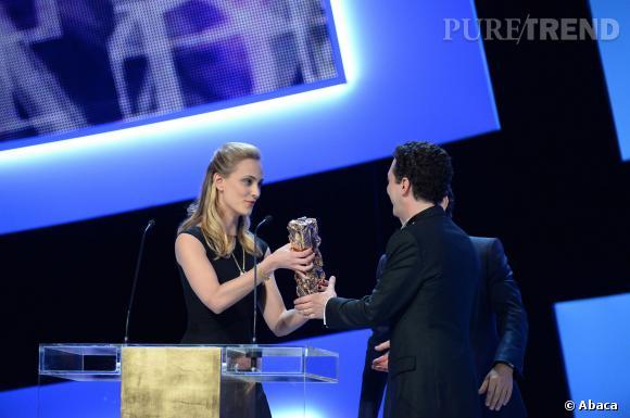 """Guillaume Gallienne avoue sur le plateau du Grand Journal, le 3 mars 2014, avoir voté pour lui et son film """"Les garçons et Guillaume à table !"""""""