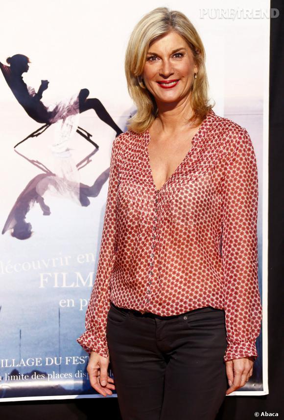 Michèle Laroque présente La Méthode Claire en 2012 au festival de la fiction télé à La Rochelle.