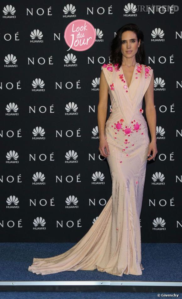 """Jennifer Connelly lors de la première de """"Noé"""" à Mexico ce lundi 10 mars 2014."""