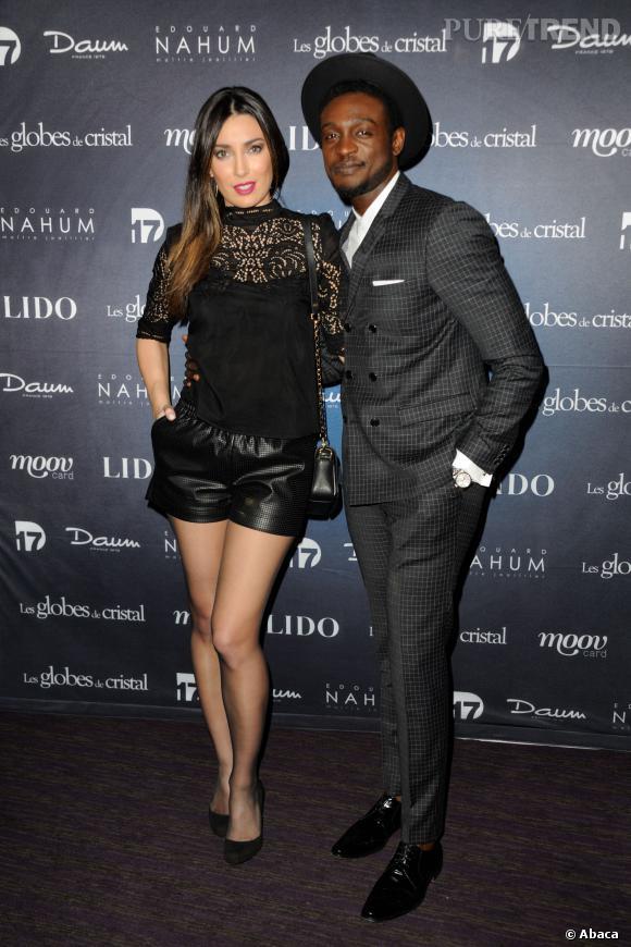 Corneille, un vrai gentleman aux côtés de sa compagne Sofia de Medeiros à la soirée de Globes de Cristal 2014.