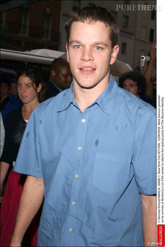Matt Damon à New York en 2002.