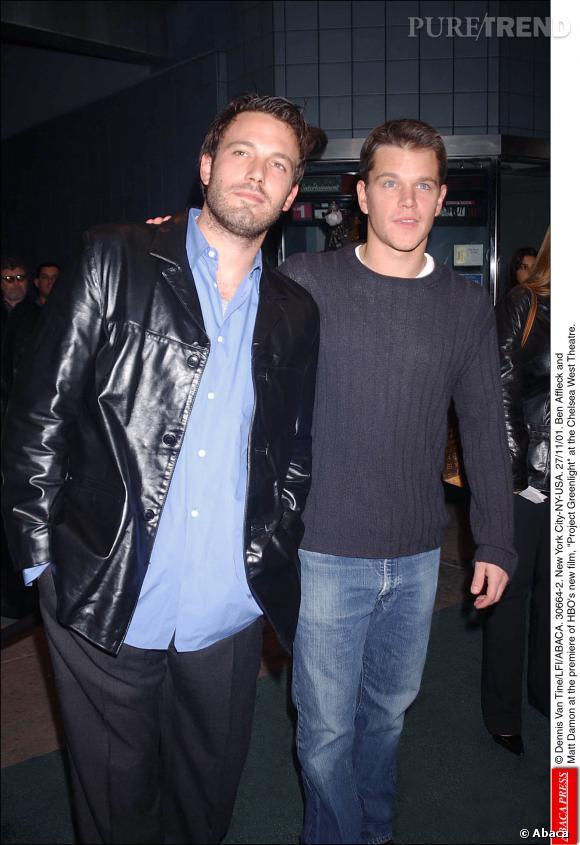 Matt Damon et Ben Affleck en 2001.