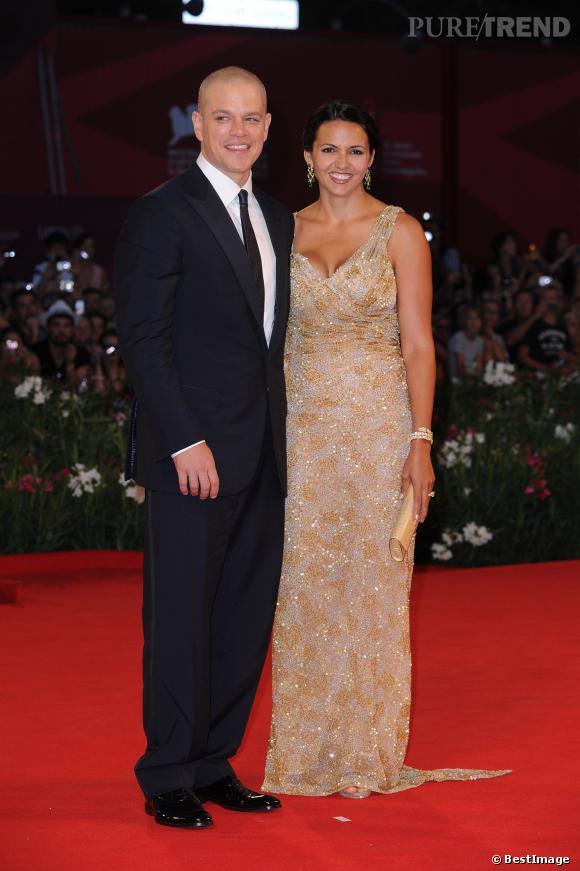 Matt Damon et sa femme Luciana Barroso à la 68ème Mostra de Venise.