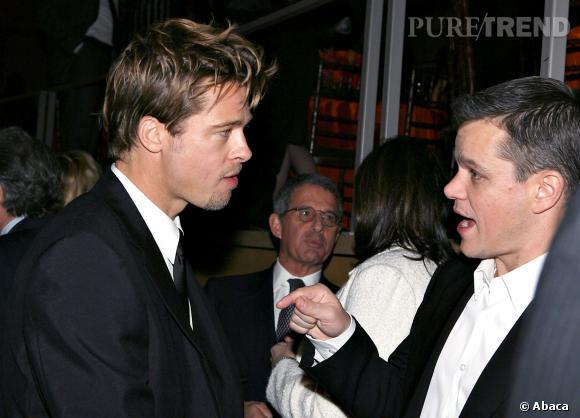 Brad Pitt et Matt Damon au festival de Tribeca en 2006.
