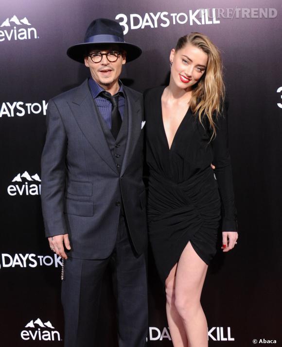 Amber Heard et Johnny Depp, des fiançailles hollywoodiennes le 14 mars 2014 à Los Angeles.