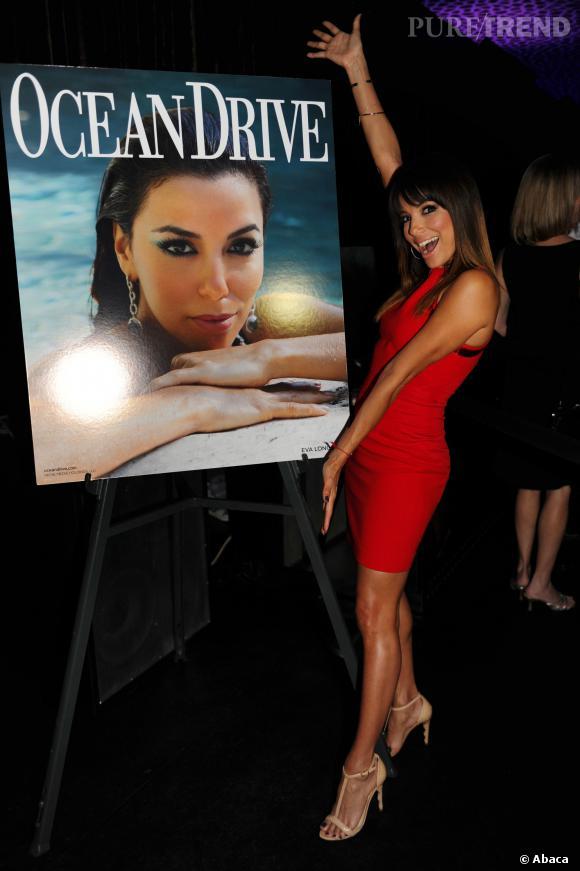 Eva Longoria est la nouvelle covergirl de Ocean Drive et dévoile sa coverce vendredi 14 mars 2014.