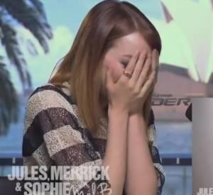 Emma Stone découvre le message vidéo que lui a laissé Mel B.