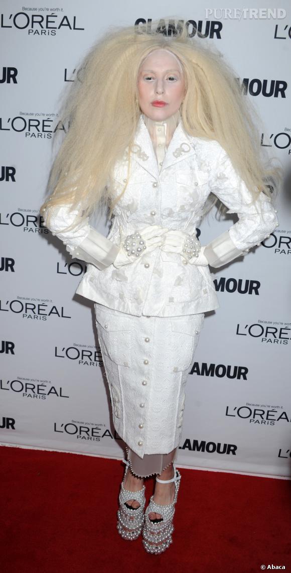 Lady Gaga blanche à faire peur en 2013.