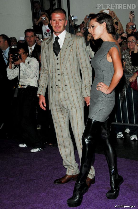 Les cuissardes sans talons Antonio Berardi de Victoria Beckham en 2008.